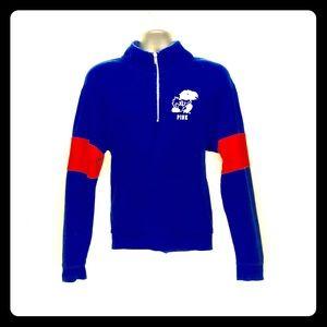 VS PINK U of Kansas Blue Sweatshirt L